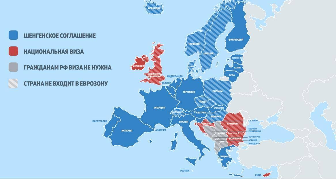 страны шенгенской группы