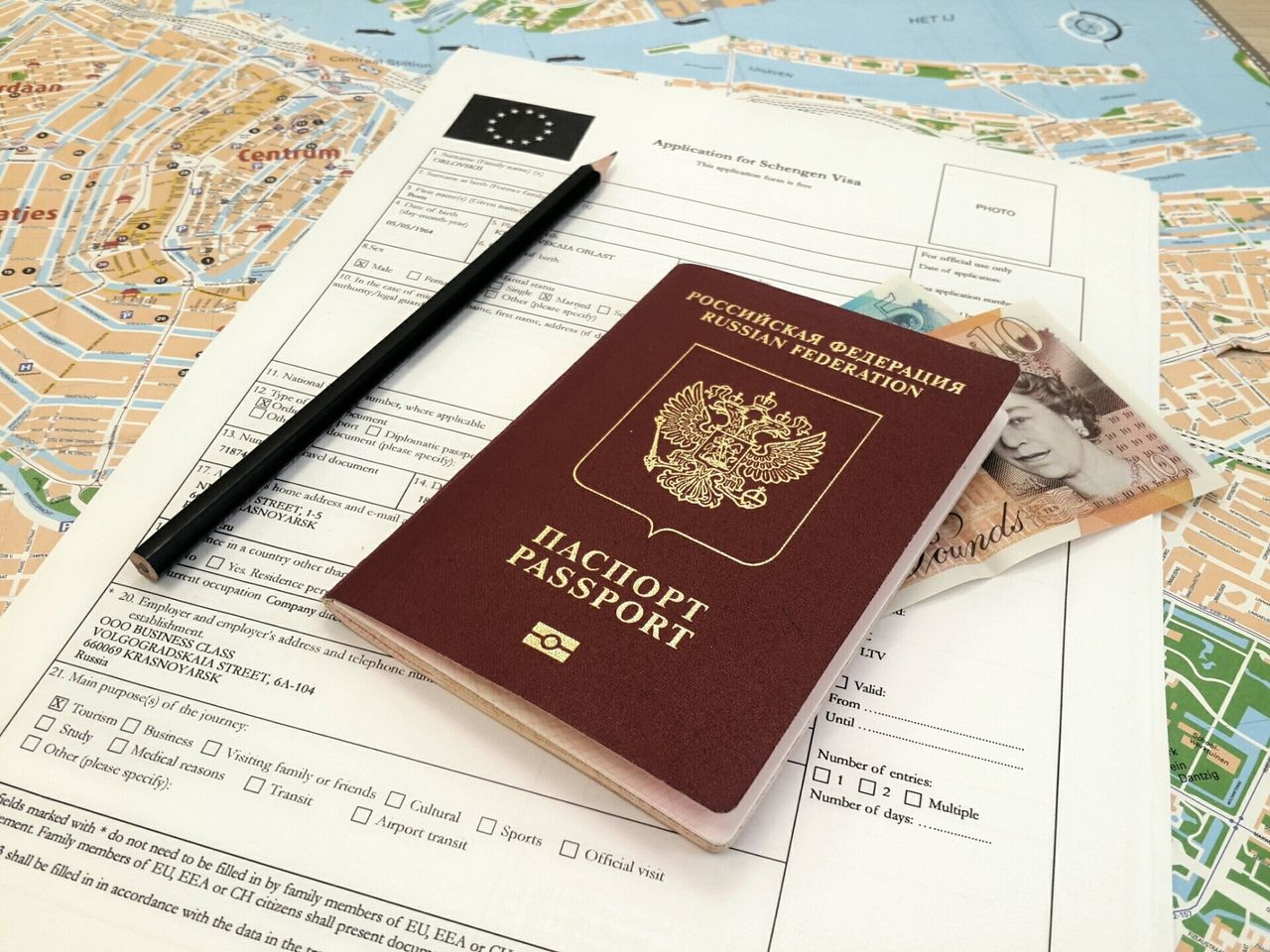 заполнение анкеты для визы